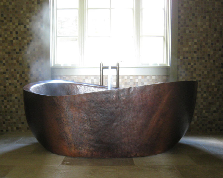 Custom Copper Soaking Tub | Free Standing Copper Tub - Calixta
