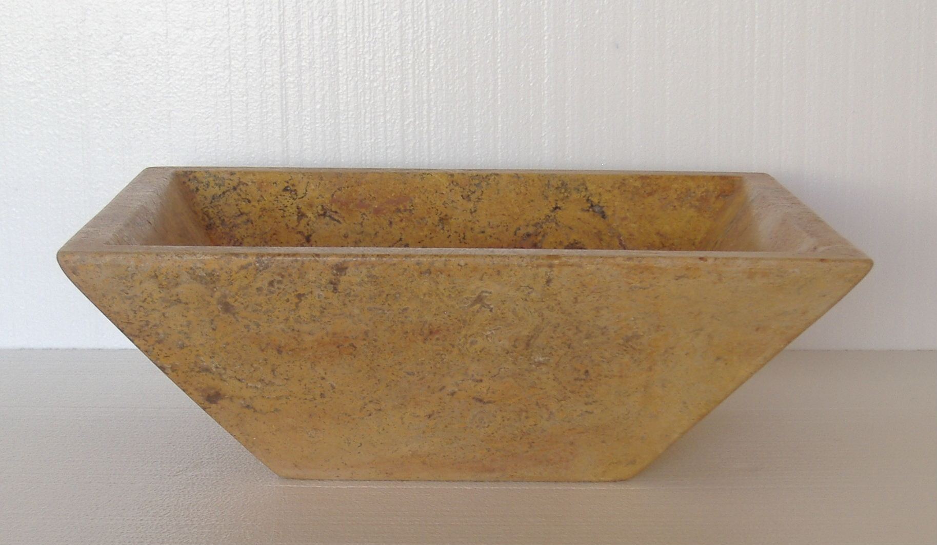 Rectangular Vessel Sink - Amarna in Romano Clasico Travertine