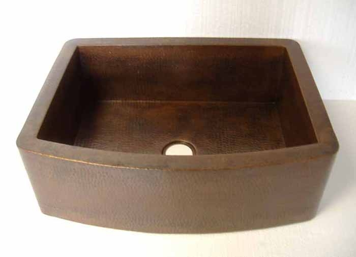 Copper Farmhouse Sink | Copper Kitchen Sink - Arcadia