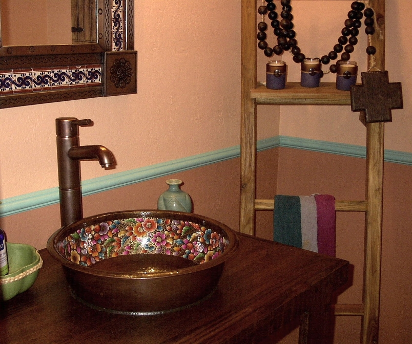 Client Gallery - Hand Painted Copper Vessel Sink