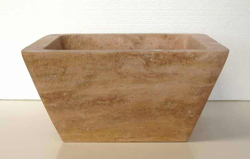 Stone Bar Sink | Stone Vegetable Prep Sink | Stone RV Sink - Dora
