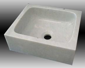Stone Bar Sink w/Squared Corners