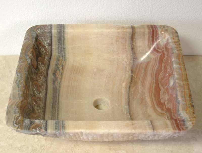 Natural Stone Vessel Sink | Onyx Vessel Sink | Bathroom Vanity Sink - Freida