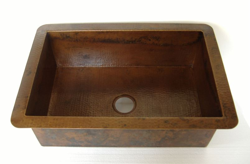 Copper Kitchen Sink | Undermount Copper Kitchen Sink | Drop-In Copper Kitchen Sink - Jacinta