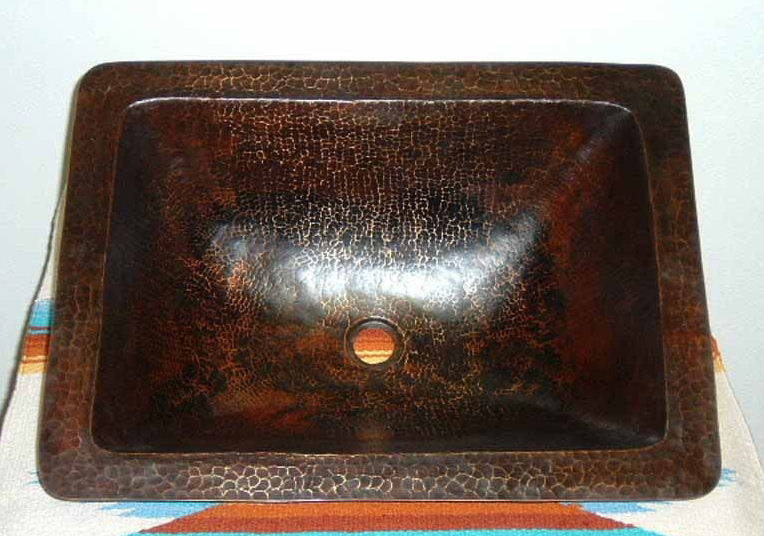 Copper Sink | Copper Vanity Sink | Rectangular Copper Sink - Manuela