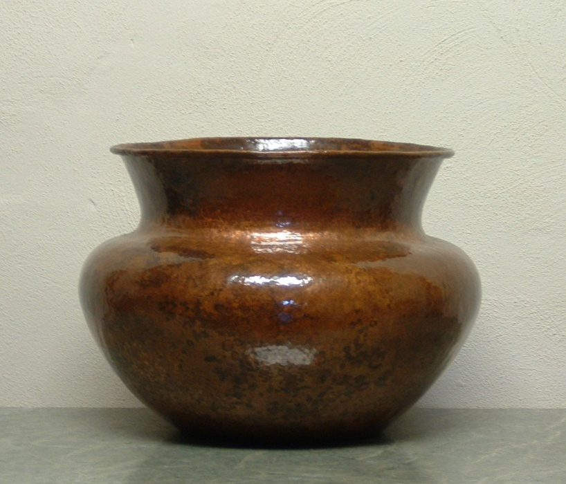 Hammered Copper Vase - Marissa