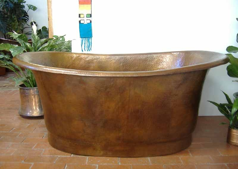 Free Standing Copper Bathtub | Copper Soaking Tub - Nicol