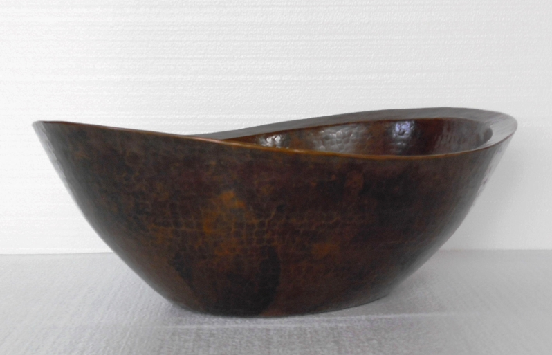 Oval Copper Vessel Sink | Oval Copper Vanity Sink | Copper Sink - Noelia
