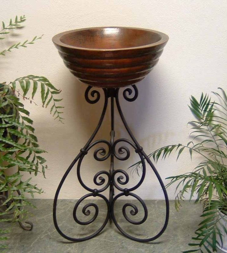 Ornamental Iron Vessel Sink Stand - Paco