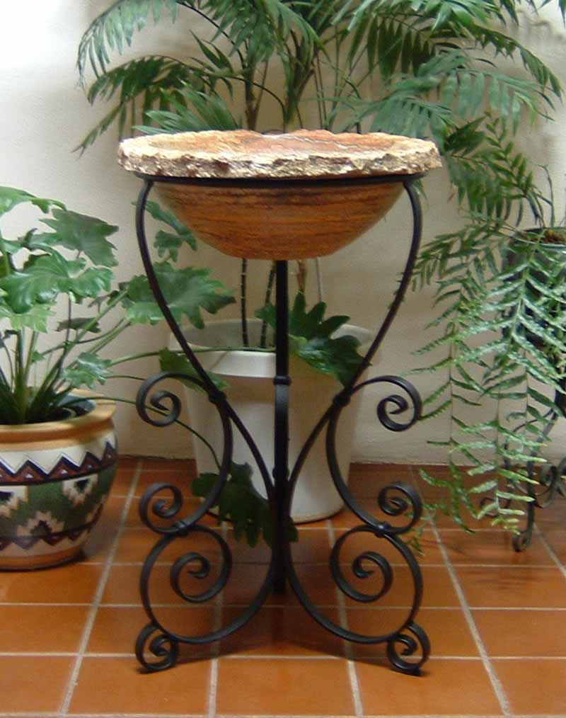 Ornamental Iron Vessel Sink Stand - Pepe