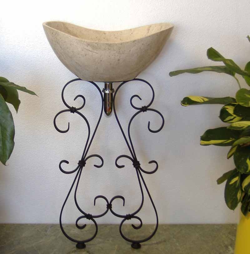 Ornamental Iron Vessel Sink Stand - Tito
