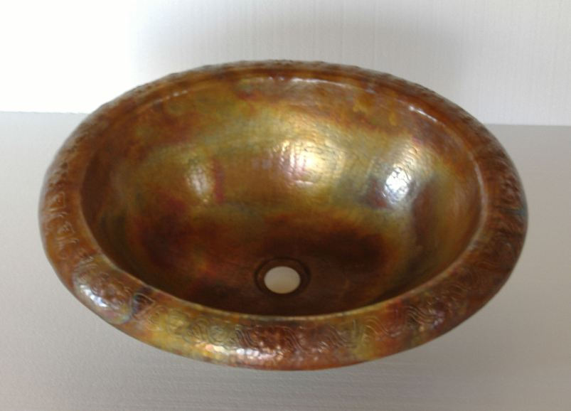 Copper Sink | Copper Bathroom Sink | Bathroom Vanity Sink - Prisma