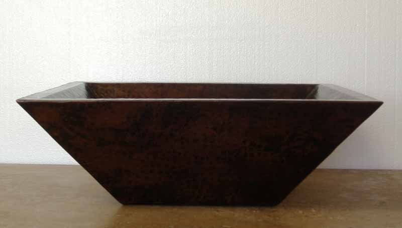 Rectangular Copper Vessel Sink - Sabah