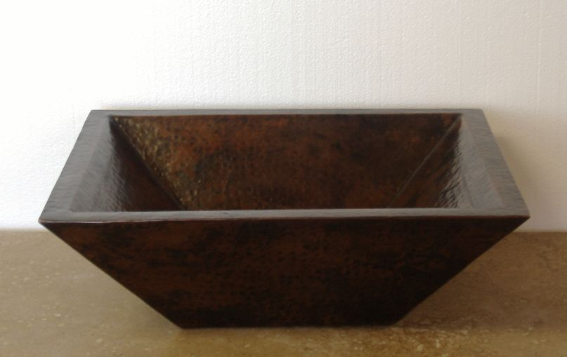 Rectangular Copper Sink | Copper Bathroom Vanity Sink - Sabah