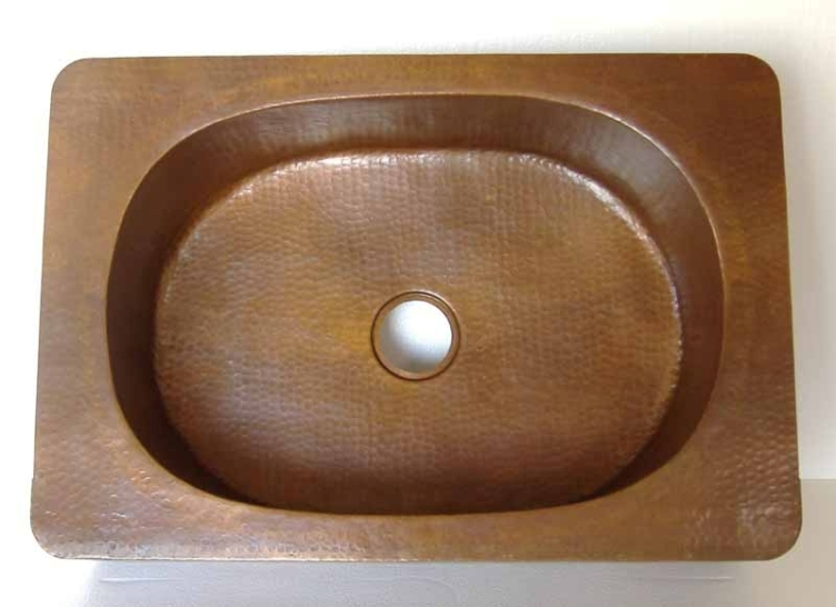 Oval Copper Kitchen Sink | Drop-In Oval Copper Kitchen Sink | Undermount Oval Copper Kitchen Sink - Sabina
